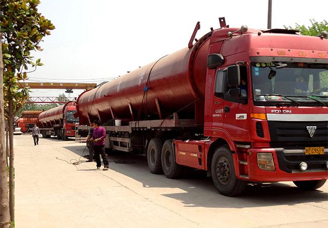 2条2×21米蒸压釜发往内蒙古乌兰察布